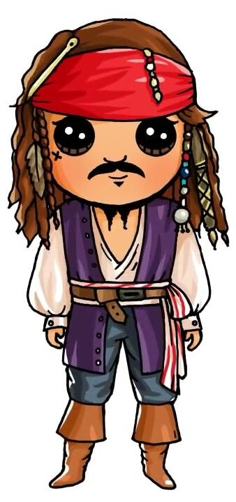 how to draw jack sparrow easy