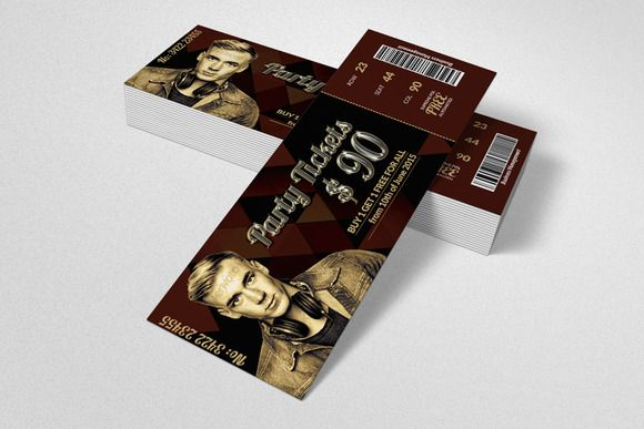 Concert Pass \/ Party Ticket @creativework247 Cards Pinterest - party tickets templates