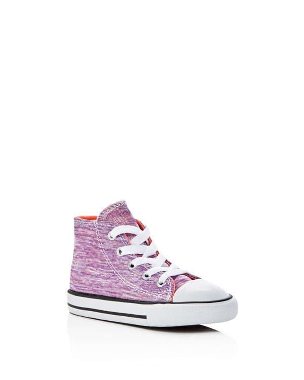 7ced823ef7a5b0 Converse Girls  Chuck Taylor All Star Metallic Jersey High Top Sneakers -  Baby