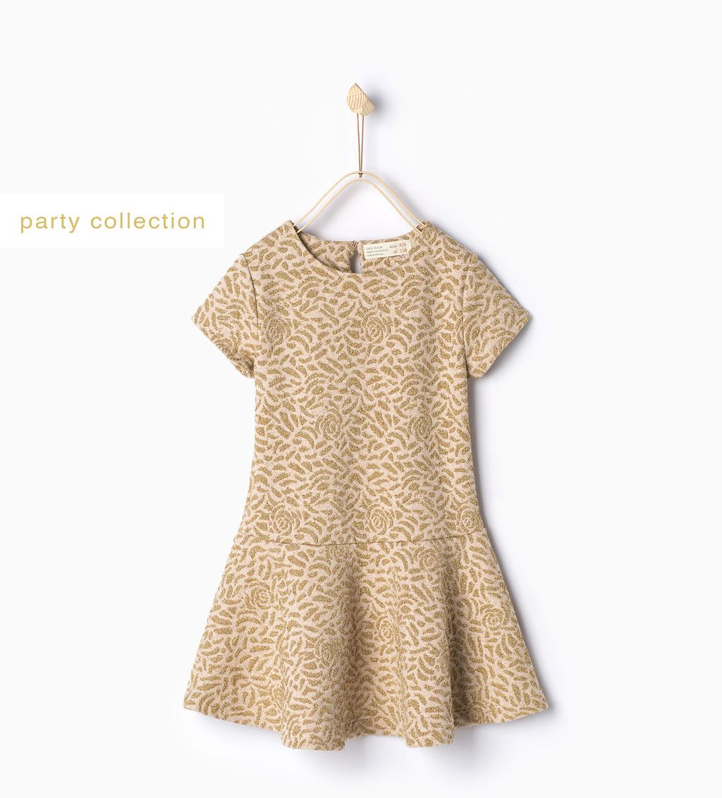 c45c38f2e Shiny jacquard dress-Dresses-Girl | 4-14 years-KIDS-SALE | ZARA United  States