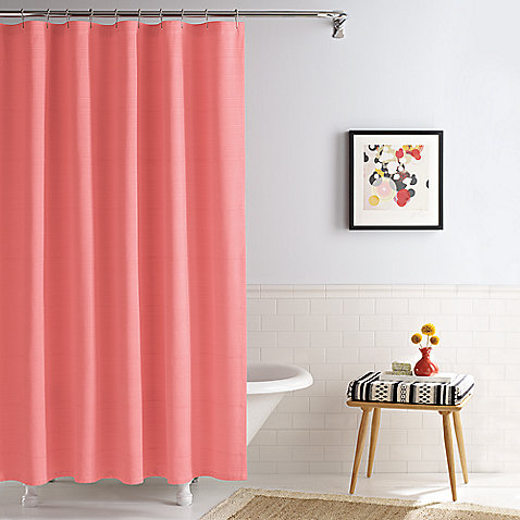 Linear Coral Real Simple® 70-Inch x 72-Inch Shower Curtain $19.99 ...