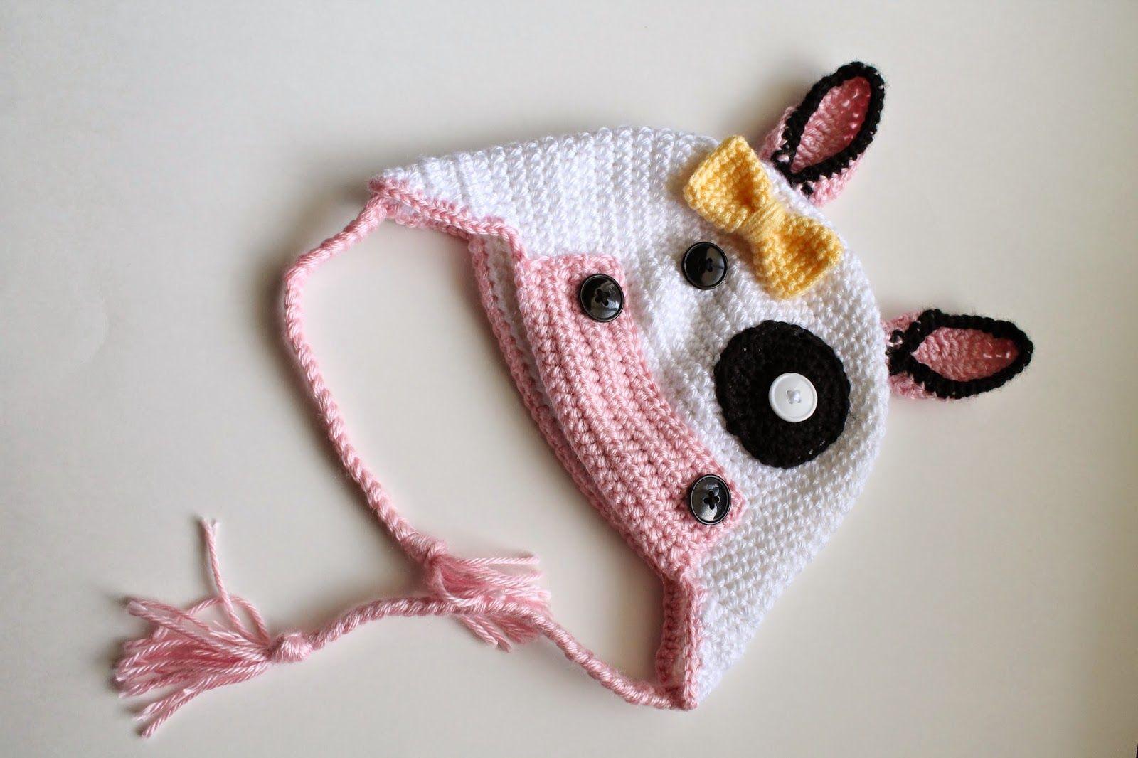 crochet cow hat (free pattern) | Crochet | Pinterest