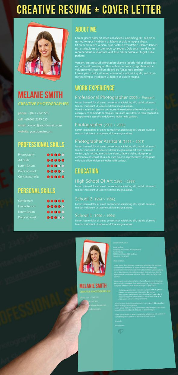 21 Stunning Creative Resume Templates USE NANNY TEMPLATE FOR P T - nanny resume cover letter