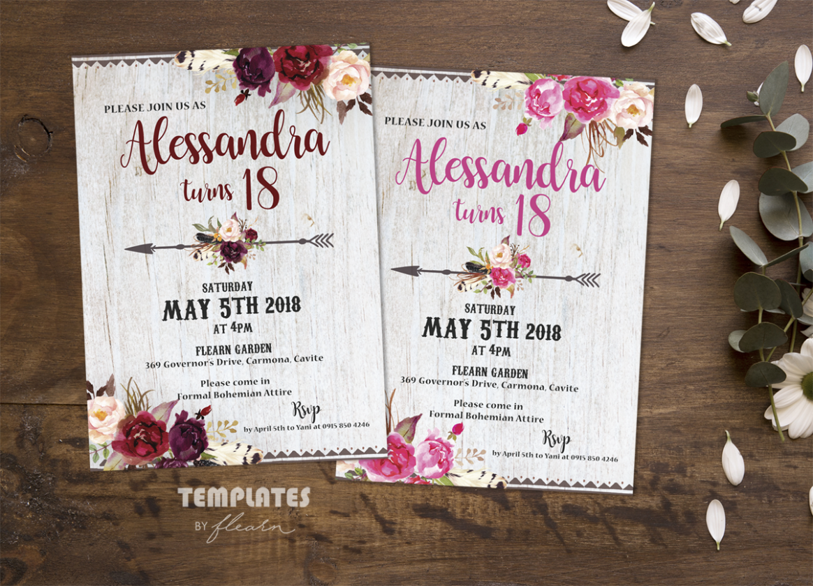 Background For Invitation Card Debut Layout Debutideas Debut Invitation Invitation Template Printable Birthday Invitations