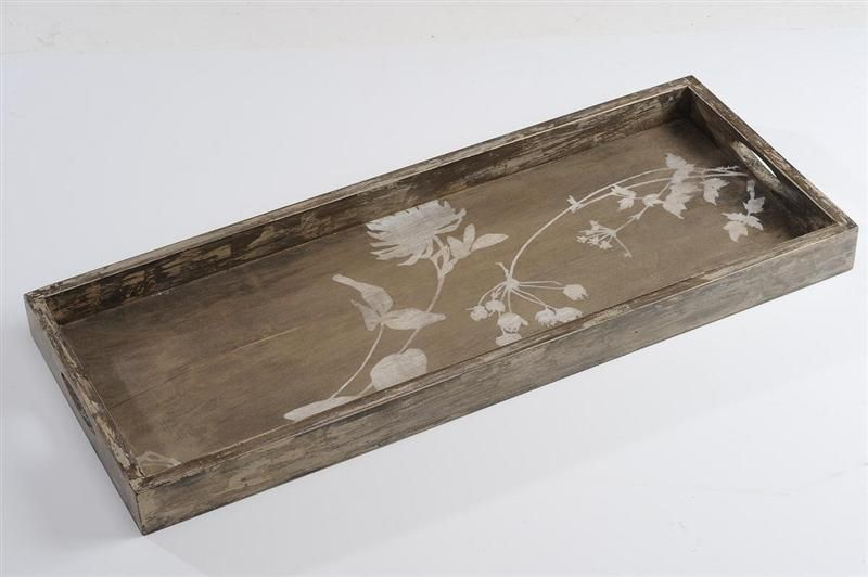 Wooden Decorative Trays Custom Rectangle Tray With Thistle Detail Wood  Craft  Pinterest Decorating Inspiration