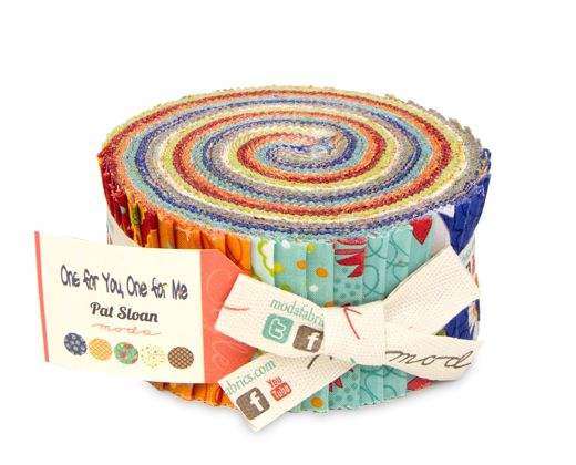 43040 JR ONE FOR YOU, ONE FOR ME PRINTS 6.3CM x 110CM JELLY ROLL (40 SHEETS)/ 1 ITEM