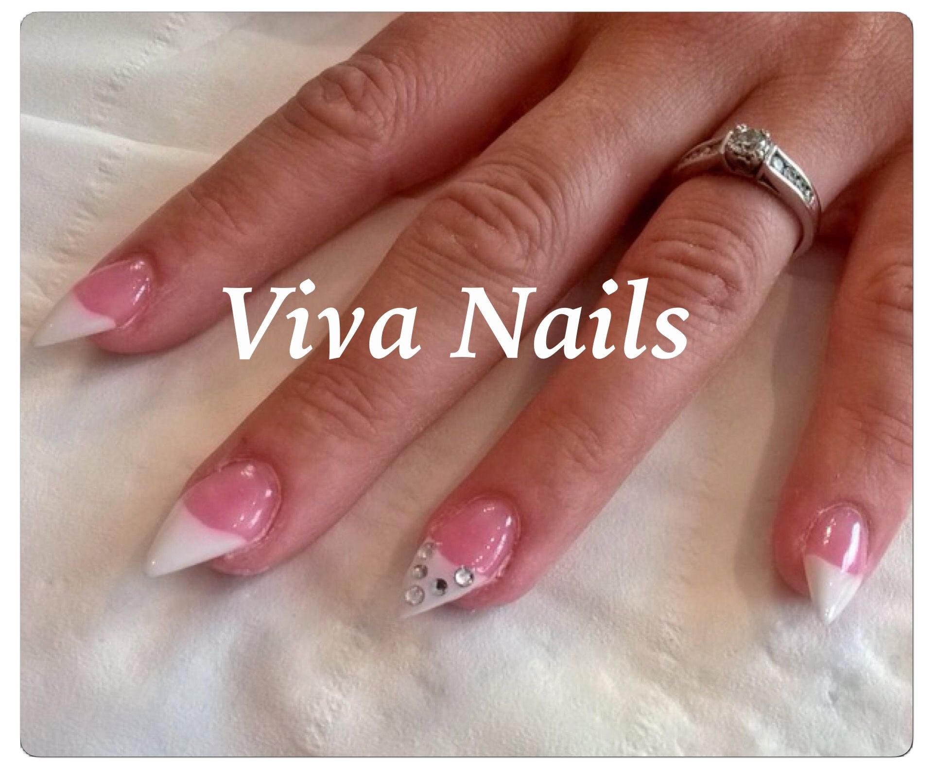 stiletto #acrylic #nails #diamonds #statementnail #vivanails ...