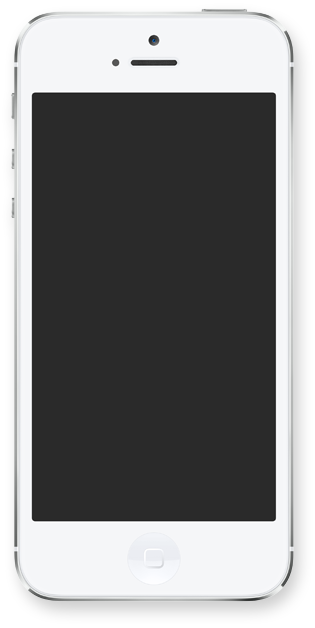 White iPhone 5 with blank screen from Mobile