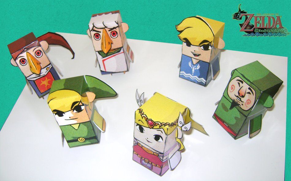 Nintendo Papercraft: Wind Waker Paper Toys | zelda | Pinterest ...