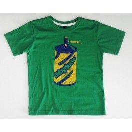Groen T-shirt met verfbus - Babydude