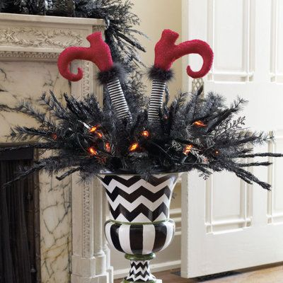 Halloween Urn Decorations Awesome Black Wicked Urn Filler  Fun For Front Porch  Jt  Halloween Design Inspiration
