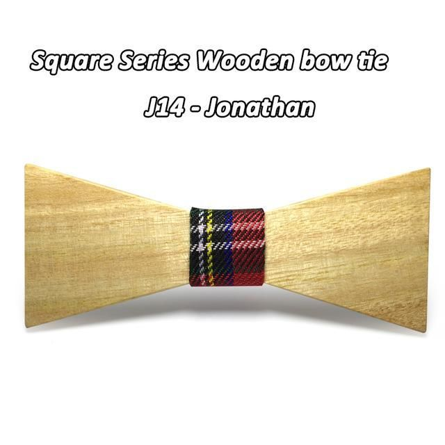 Men Wooden Bow Tie Mahoosive Brand Classic Bamboo Bow Tie For Men Business Shirts
