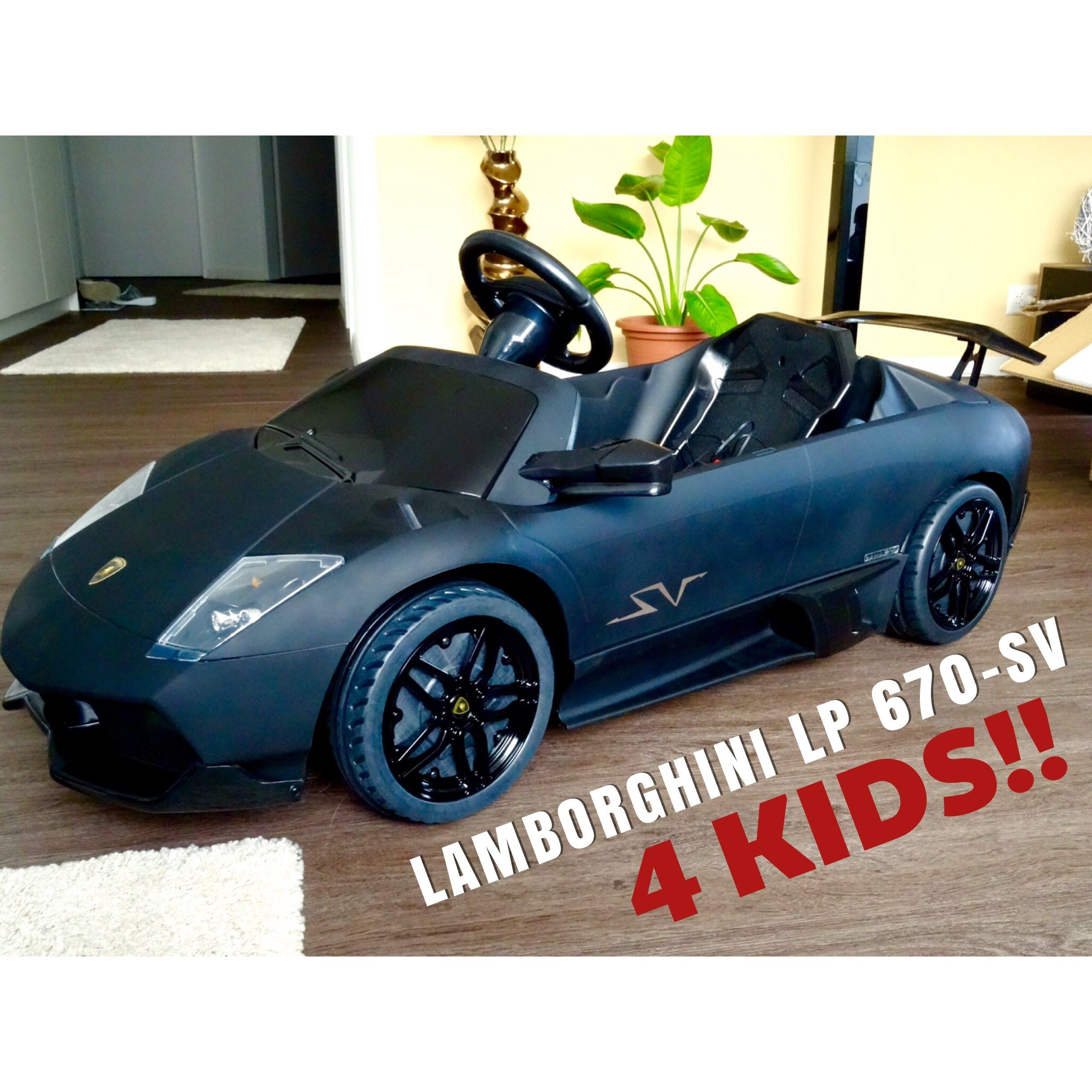 Awesome LAMBORGHINI MURCIELAGO LP 670 SV 12V Electric Car For Kids! #PART 1