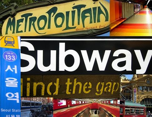 Metropolitain Paris, NY Subway, Mind the Gap - London, Melbourne tram, Seoul station