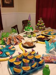 Tangled Birthday Party- Jello & orange slice boats/ Pair with The Big Blue Boat/ Happy Cruiser Inflatable