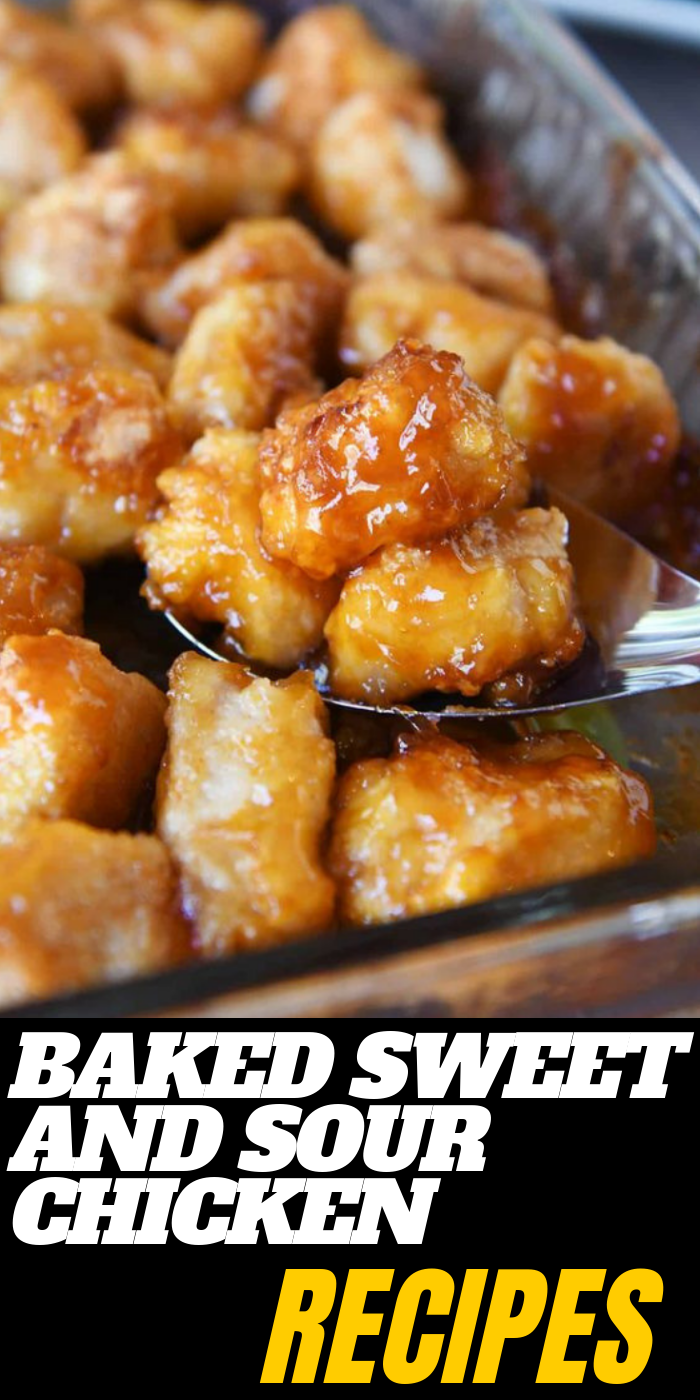 Baked Sweet and Sour Chicken Dinner Recipes #dinnerrecipes #chickenrecipes #easyrecipes #dinnerrecipesforfamilymaindishes
