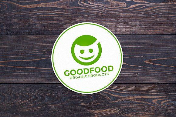 Organic Food Logo Templates Good Food logo template. All colors and text can be modified.- vector AI, EPS, PDF and CDR files- by pne-design
