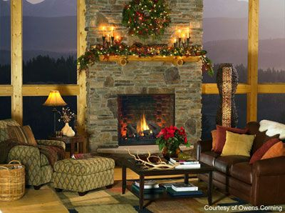 Fire And A View Lodge Style Decorating Fireplace Fireplace Design