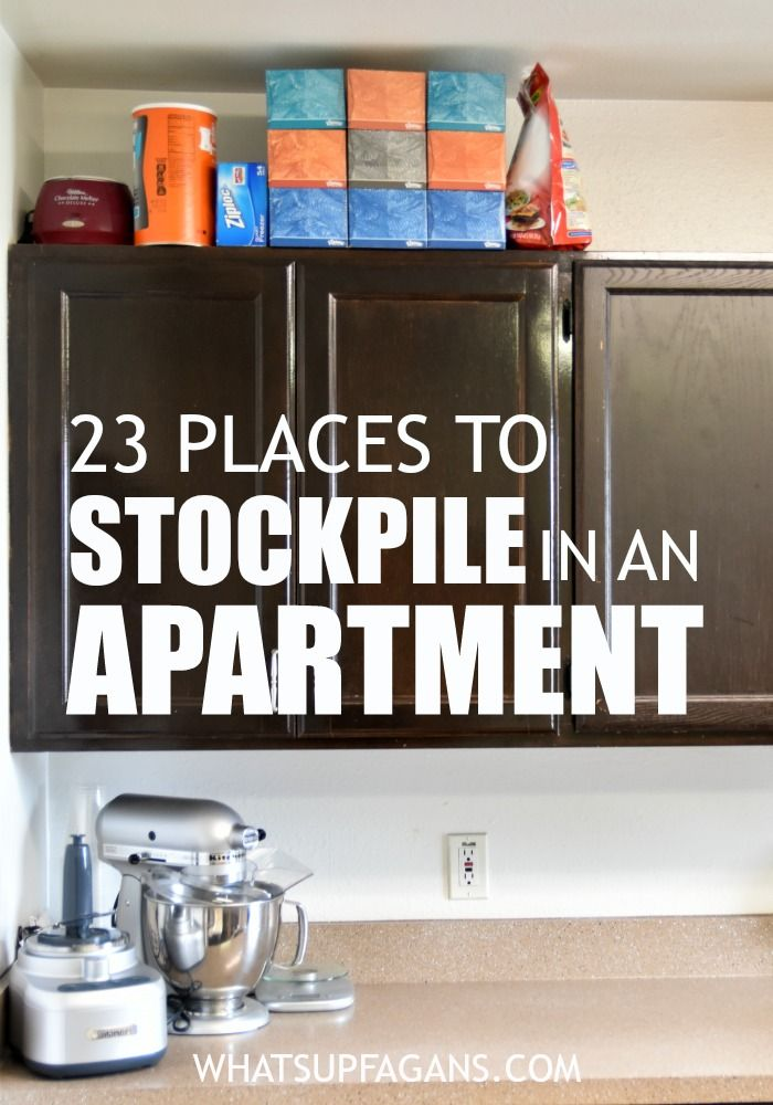 23 Places To Stockpile In An Apartment. Small Apartment StorageStorage  SpacesFood ... Great Ideas