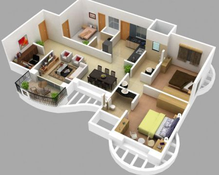 Investing In 4 Bhk Flats In Mohali Small House Plans House Plans Apartment Floor Plans