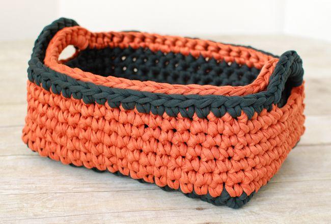 Rectangular Crochet Basket Pattern Two Nesting Sizes Crochet
