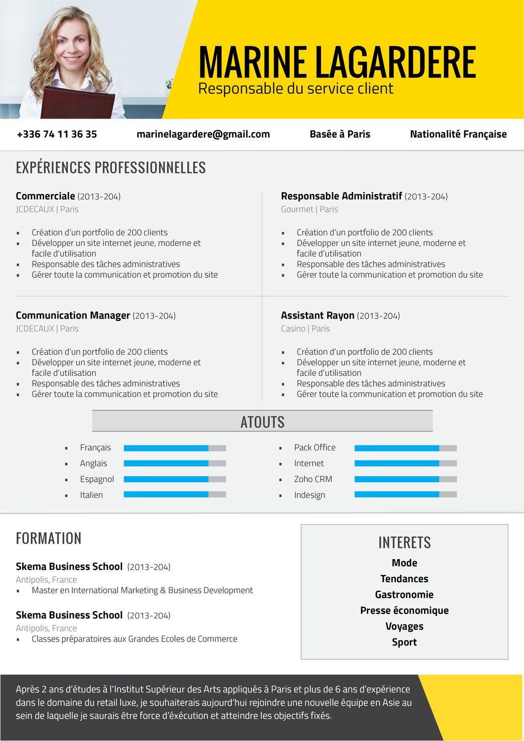 Methodique Modèle cv, Exemple cv et Cv graphiste