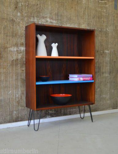 details zu 60er palisander highboard kommode regal b cherregal danish design 60s home styling. Black Bedroom Furniture Sets. Home Design Ideas