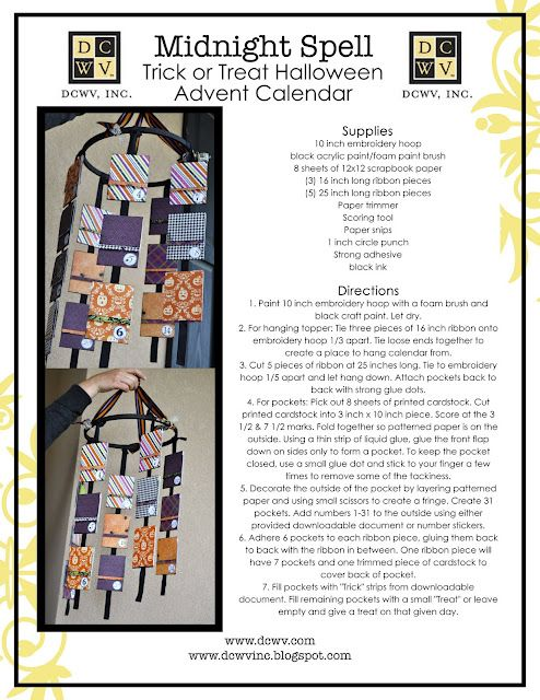 Trick Or Treat Halloween Advent Calendar Great Idea For Simple Project