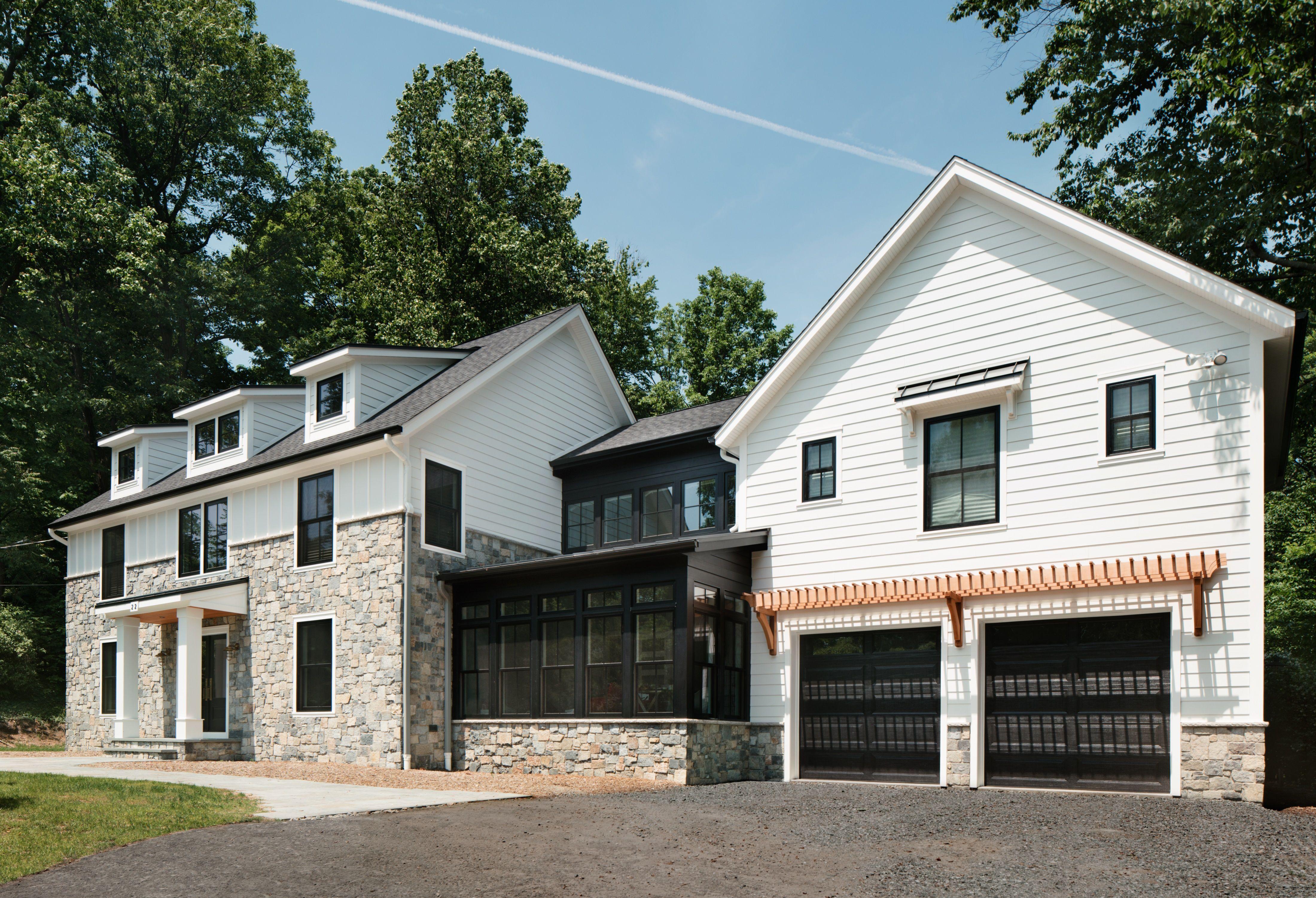 Oakwood Residence Modern Farmhouse Exterior Z Interiors