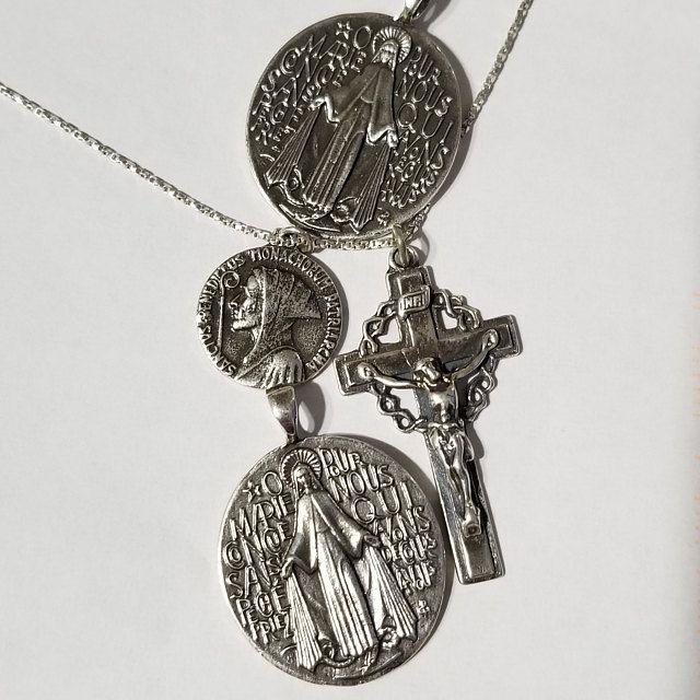Bronze Divine Mercy Centerpiece VP4901 #rosaryjewelry