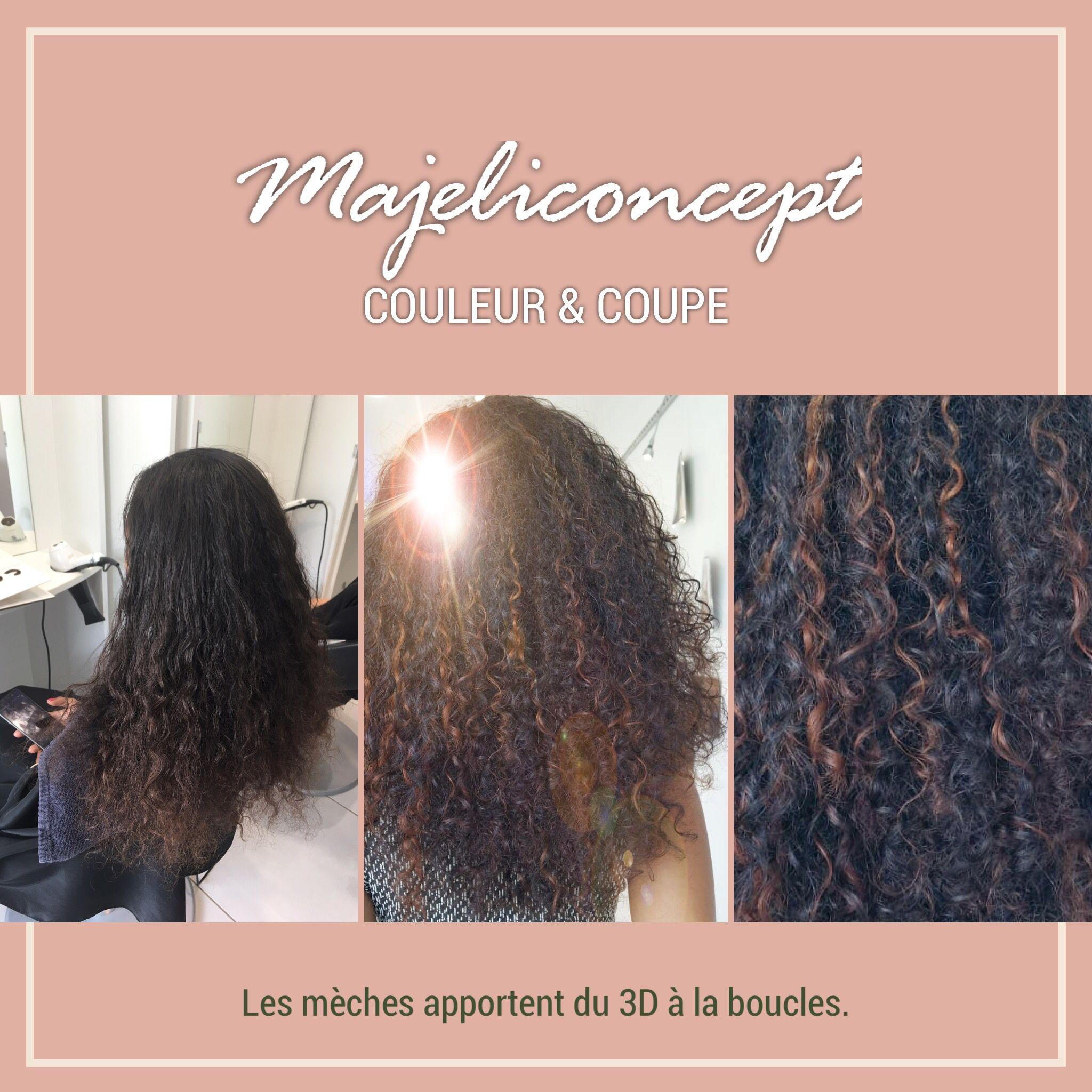 Coiffure Sur Cheveux Naturel Couleurs Meches Balayages