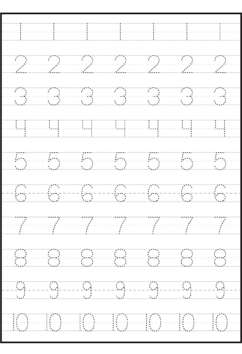 Number Worksheets For Children Tracing Worksheets Preschool