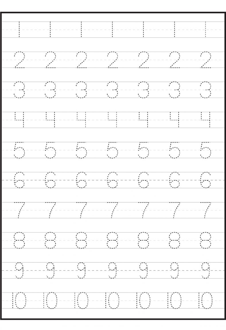 worksheet Number Tracing Worksheets 1-10 number tracing 1 10 worksheet kindergarten worksheets pinterest and number