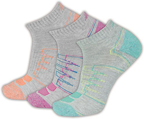 New Balance Womens Performance Low Cut Socks 3 Pack Gray 610 >>> Read more reviews of the product by visiting the link on the image.