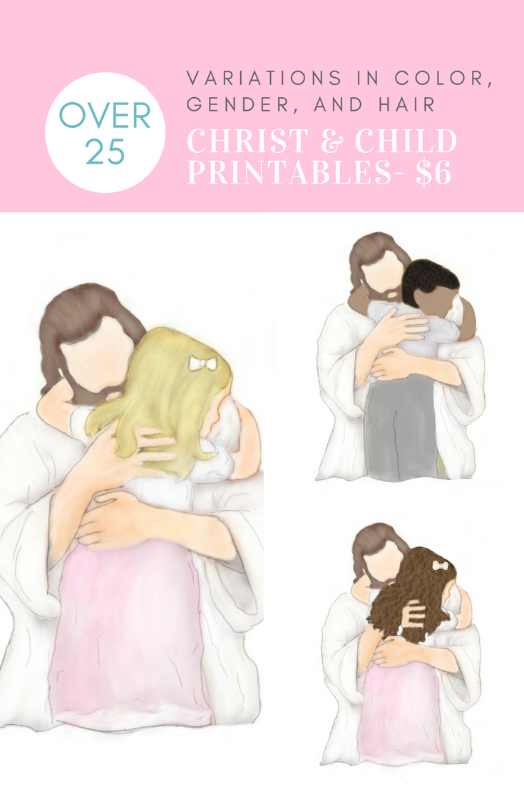 Christ and child 6 printable perfect for baptism gifts easter christ and child 6 printable perfect for baptism gifts easter gifts mothers day gifts lds primary gifts religious gifts death of a child negle Choice Image