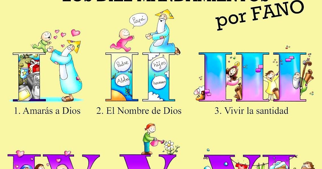 Sgblogosfera Amigos De Jesus Los Mandamientos De Fano 10 Mandamientos Para Ninos Dibujos Fano Los Diez Mandamientos