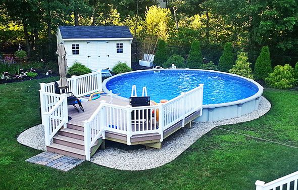 The perfect solution for your backyard is an above ground for Above ground pool decks tampa