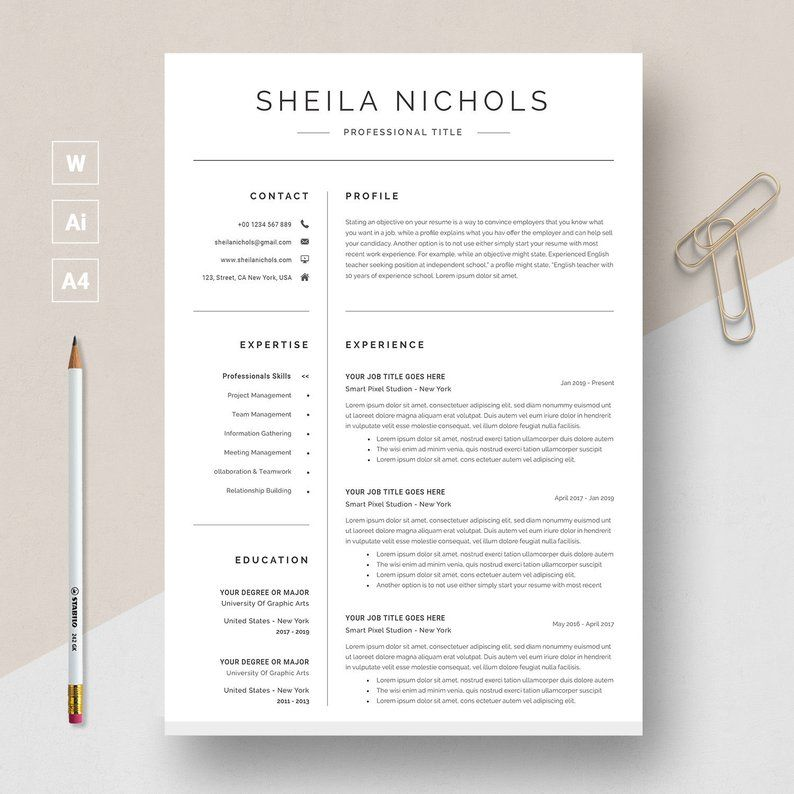 Simple Resume Template Download for Free in 2020