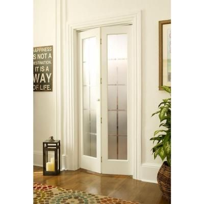 Pinecroft 30 in. x 80 in. Colonial Glass Universal/Reversible Wood ...