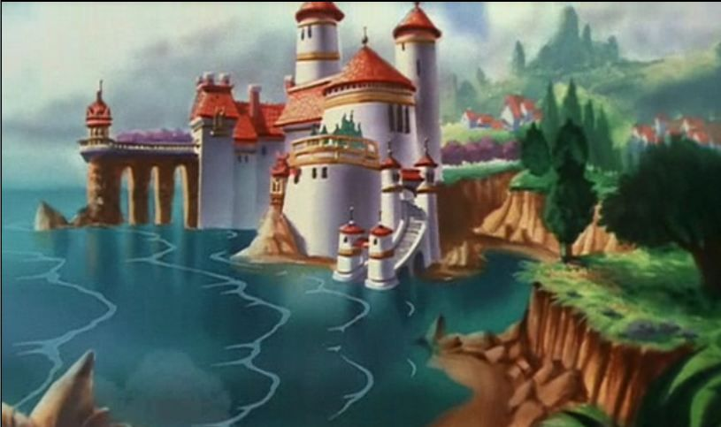 Day 27 Favorite Castle Ariel And Eric S Castle Little Mermaid Castle Disney Art Disney Drawings