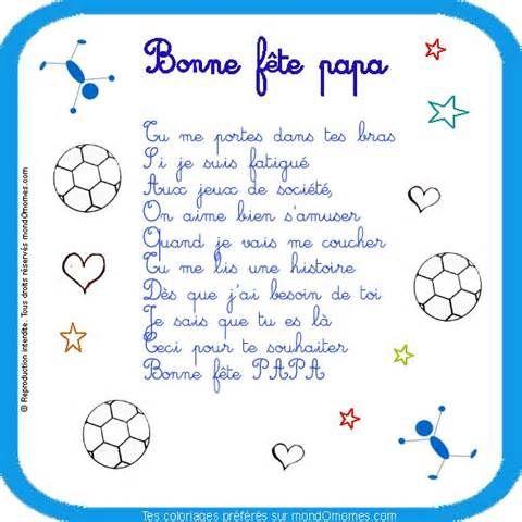 Poeme Bonne Fete Papa Coloriage Fete Des Meres Et Fete Des Peres