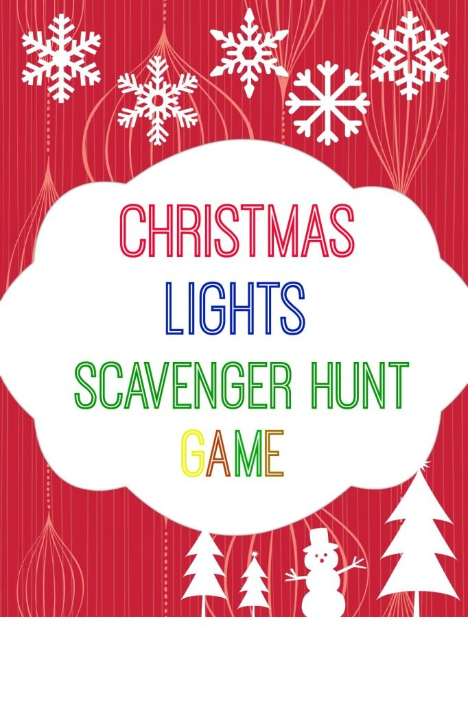 Christmas Lights Scavenger Hunt Game with Free Printable.  www.intelligentdomestications.com #TriplePFeature - Free Printable Christmas Lights Scavenger Hunt All Things Winter