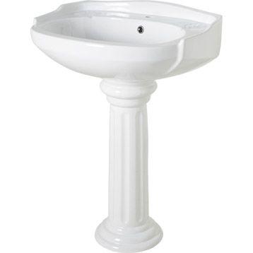 Colonne pour lavabo Retro blanc Leroy Merlin Bathroom - lavabo retro salle de bain