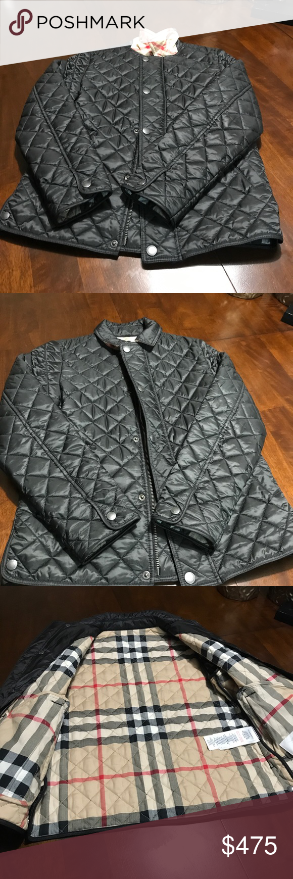 Burberry Boys Quilted Jacket New Without Tag Boutique