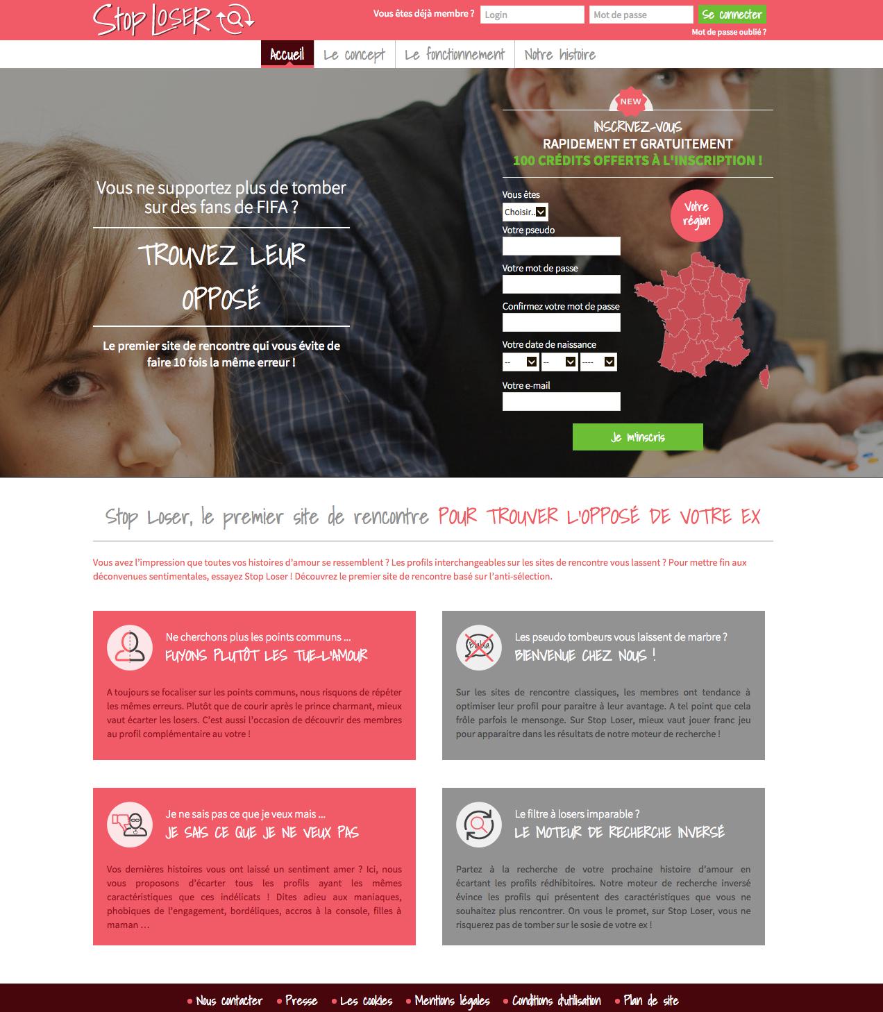 Recherche de site Web de rencontres