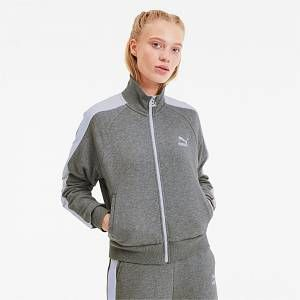 Classics T7 Women's Track Jacket | Medium Gray Heather | PUMA Loungewear | PUMA United Kingdom