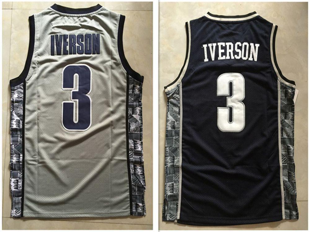 dcda1a0b7b6 ... -3-Allen-Iverson-font-b-jersey-b-font NCAA Georgetown Hoyas 3 Allen  Iverson Jersey college basketball ...