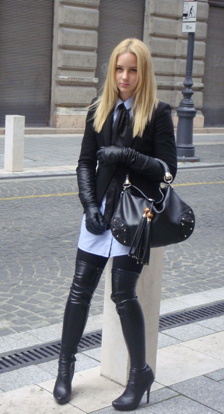 Ladies in leather gloves and boots - Leather Gloves And Boots Google Suche