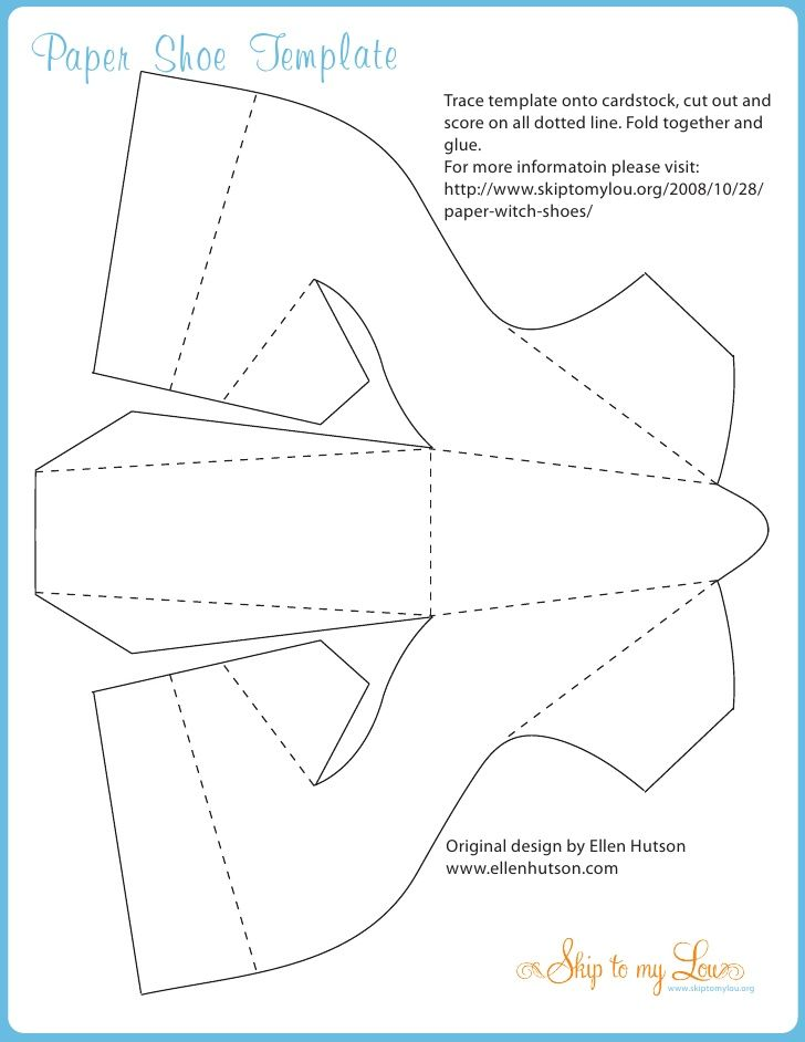 paper witch shoe template stuff i really want to do pinterest