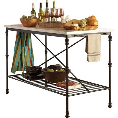 Charming And Quaint, This Kitchen Island Sports A French Bistro Design With  Shaped Metal Legs. Add Some Extra Storage And Prep Space To Your Kitchen  With ...